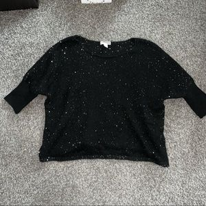 forever 21 drapey dolman sweater sequins